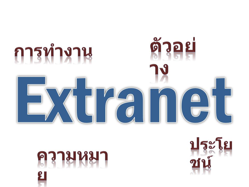 ตัวอย่าง การทำงาน Extranet ประโยชน์ ความหมาย