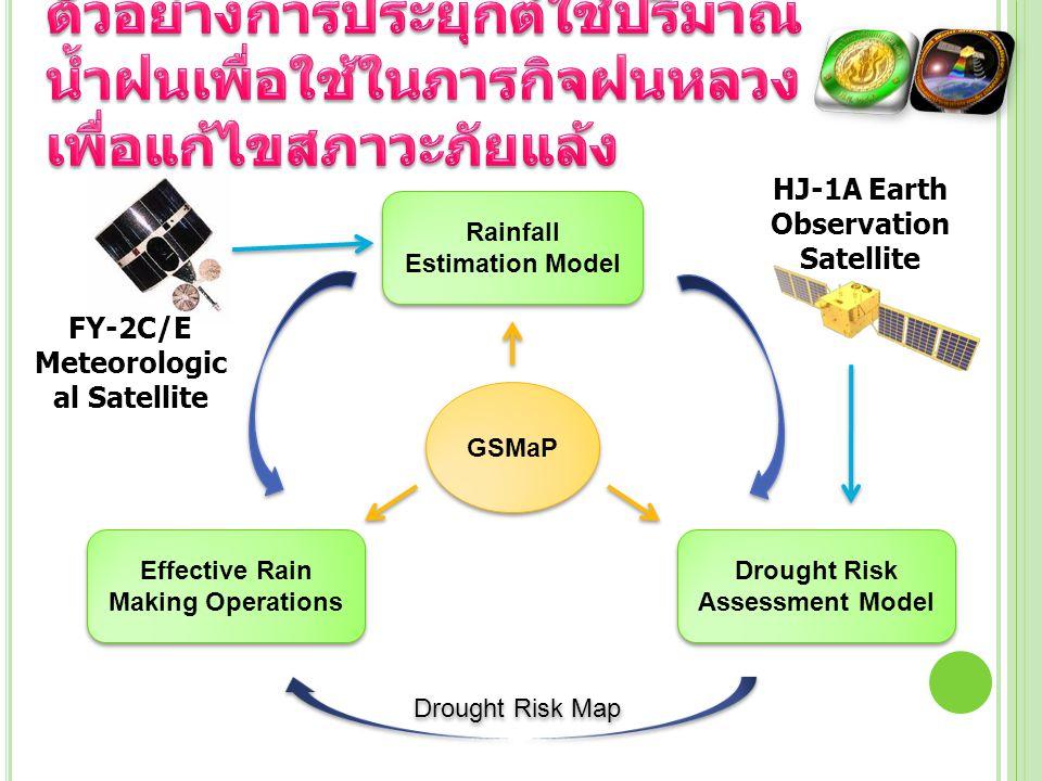 ตัวอย่างการประยุกต์ใช้ปริมาณน้ำฝนเพื่อใช้ในภารกิจฝนหลวงเพื่อแก้ไขสภาวะภัยแล้ง