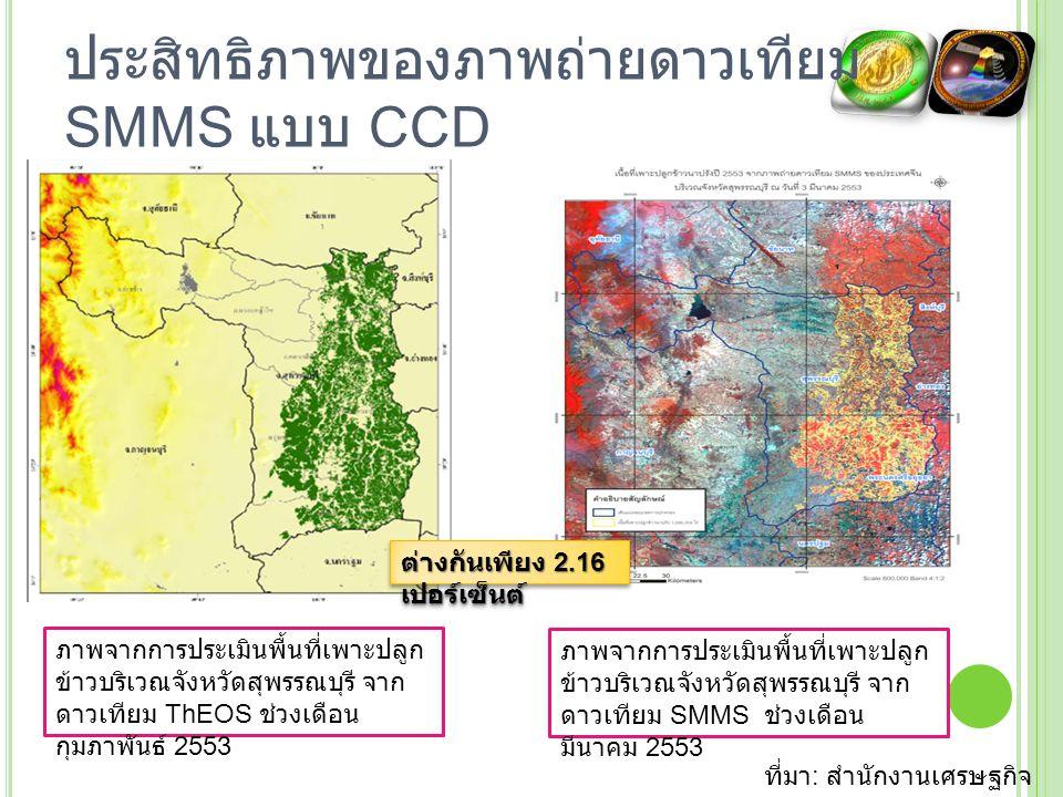ประสิทธิภาพของภาพถ่ายดาวเทียม SMMS แบบ CCD