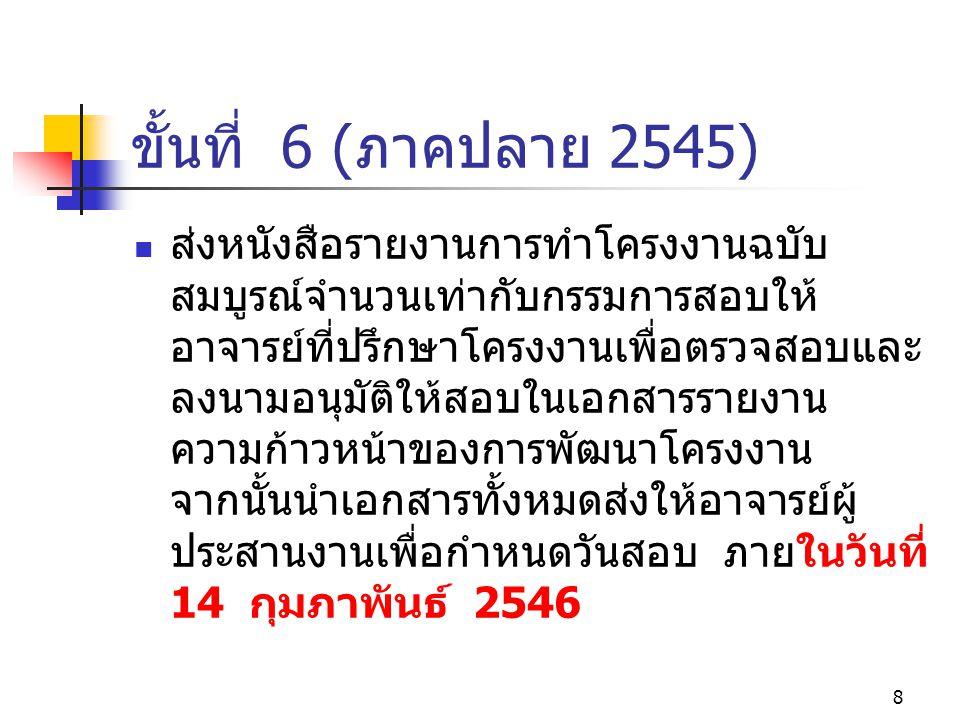 ขั้นที่ 6 (ภาคปลาย 2545)