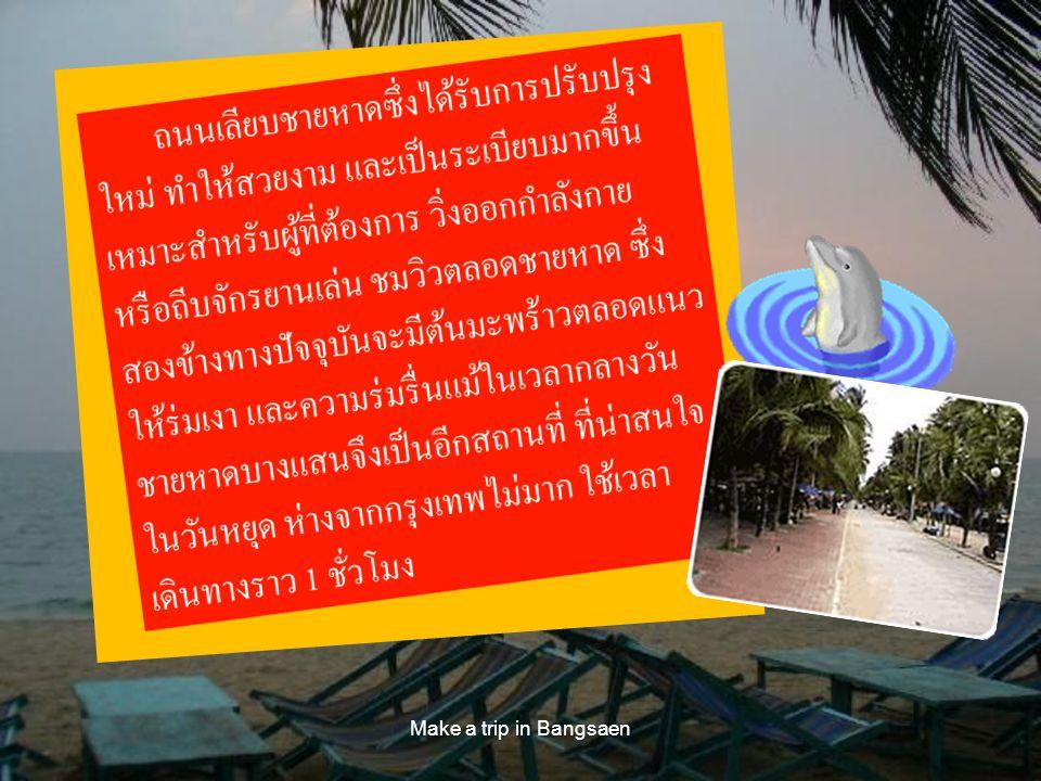 Make a trip in Bangsaen