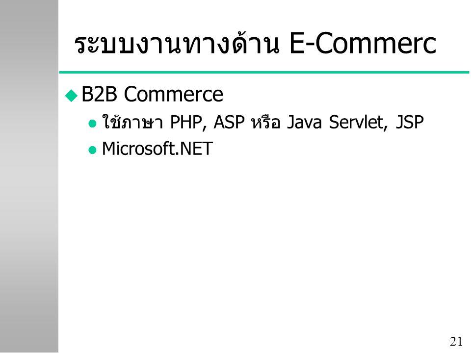 ระบบงานทางด้าน E-Commerc