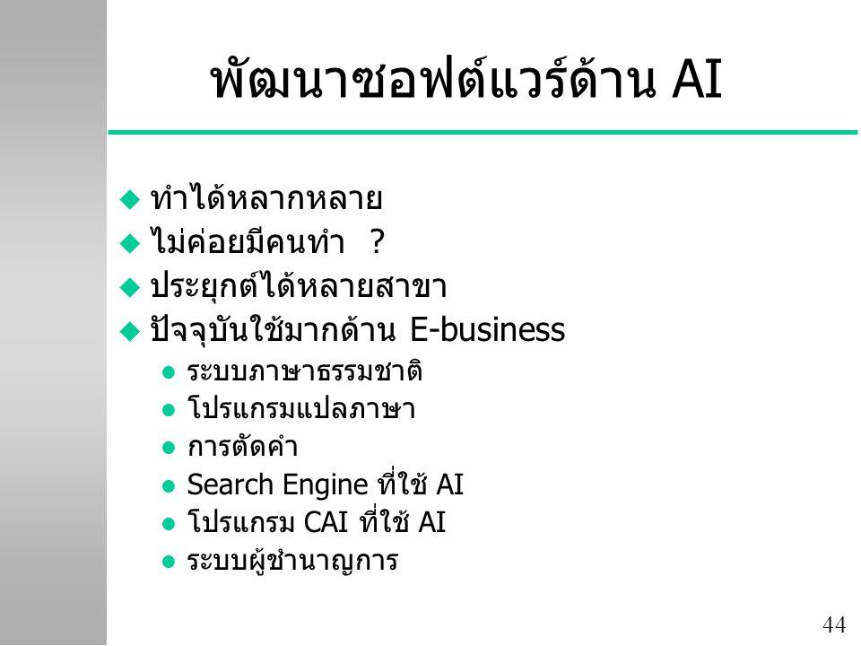 พัฒนาซอฟต์แวร์ด้าน AI