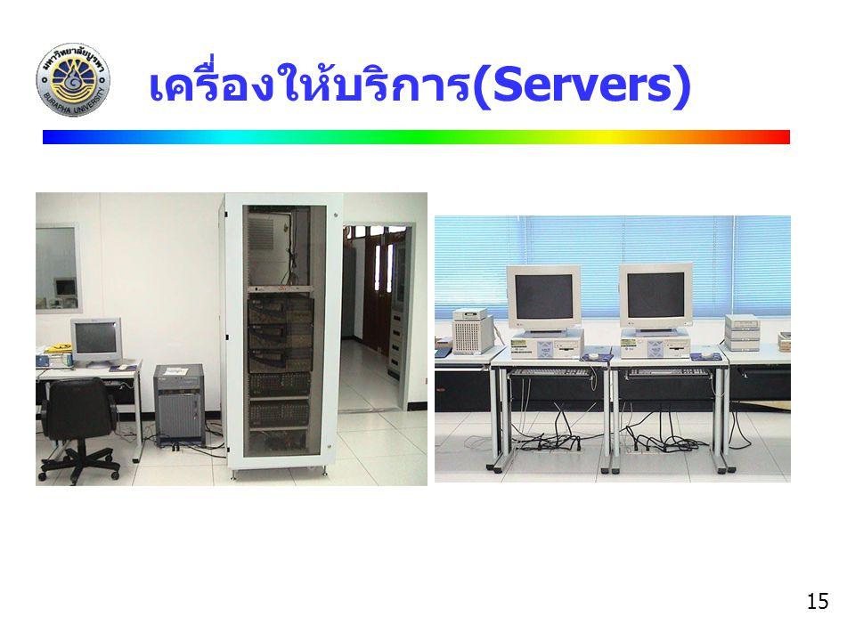 เครื่องให้บริการ(Servers)