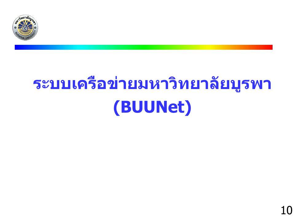 ระบบเครือข่ายมหาวิทยาลัยบูรพา