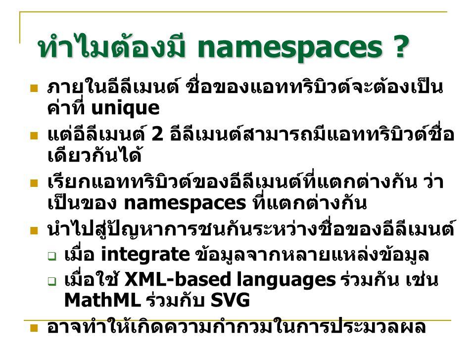 ทำไมต้องมี namespaces