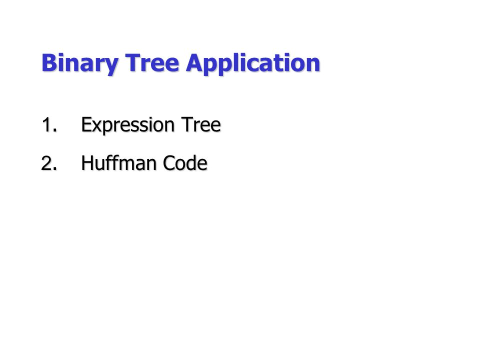 Binary Tree Application