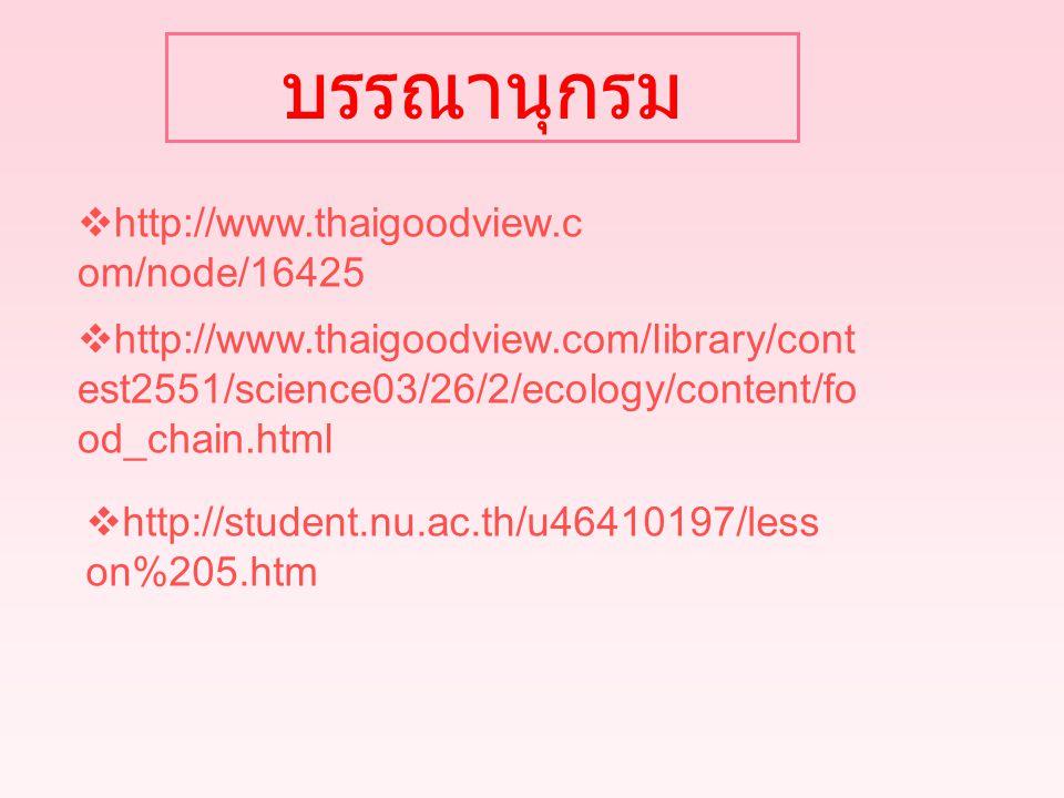 บรรณานุกรม http://www.thaigoodview.com/node/16425