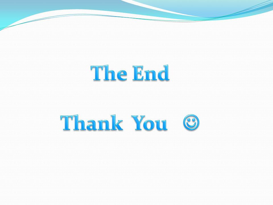 The End Thank You 