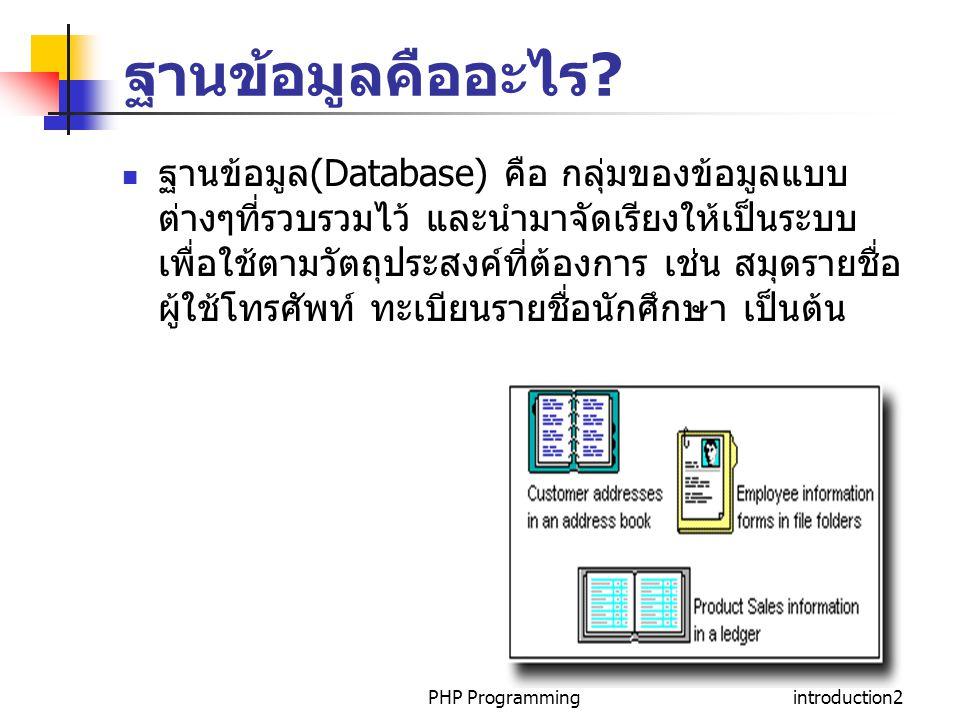 ฐานข้อมูลคืออะไร