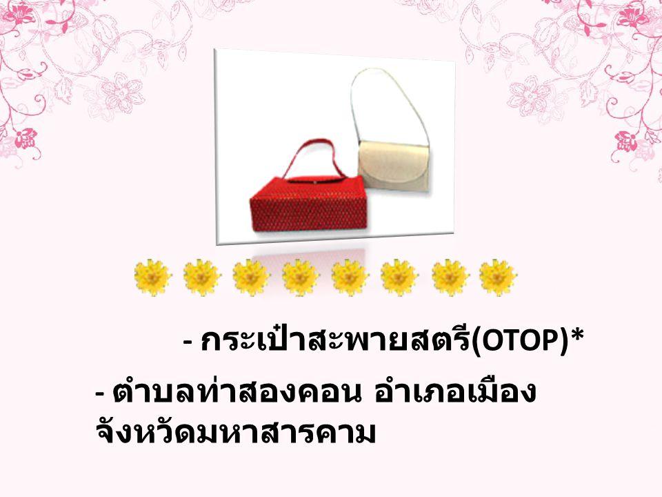 - กระเป๋าสะพายสตรี(OTOP)*
