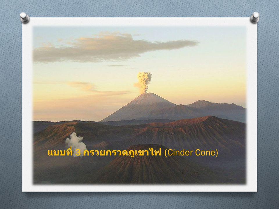 แบบที่ 3 กรวยกรวดภูเขาไฟ (Cinder Cone)