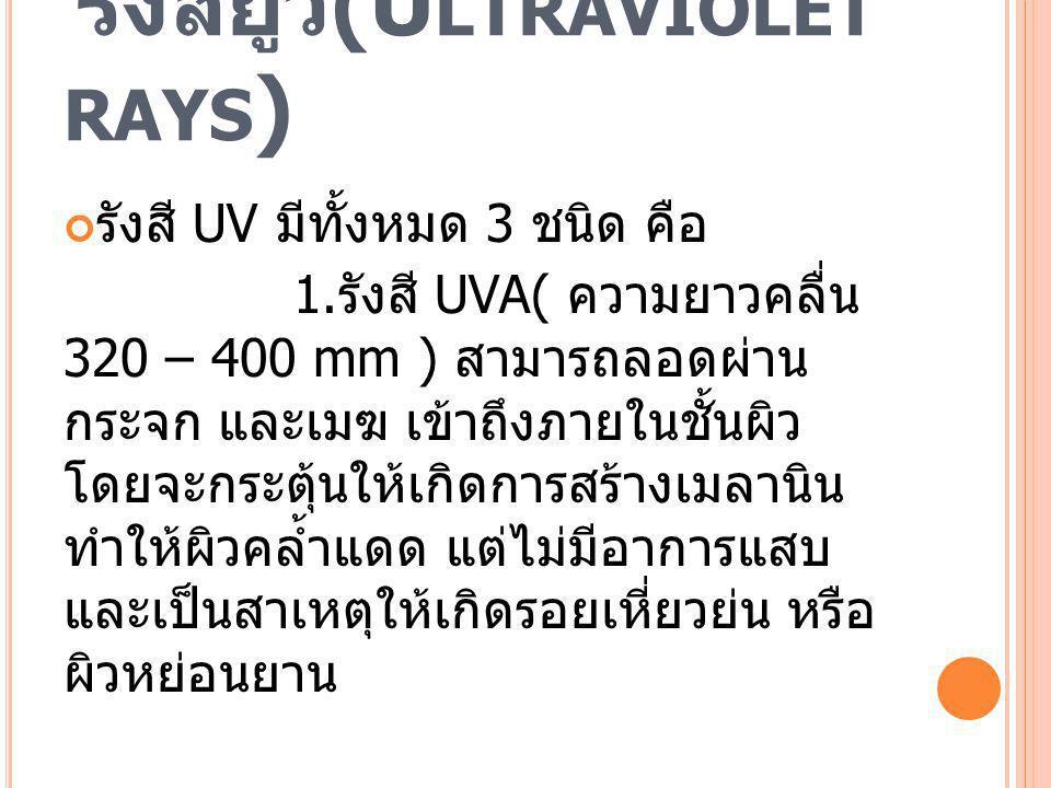 รังสียูวี(Ultraviolet rays)