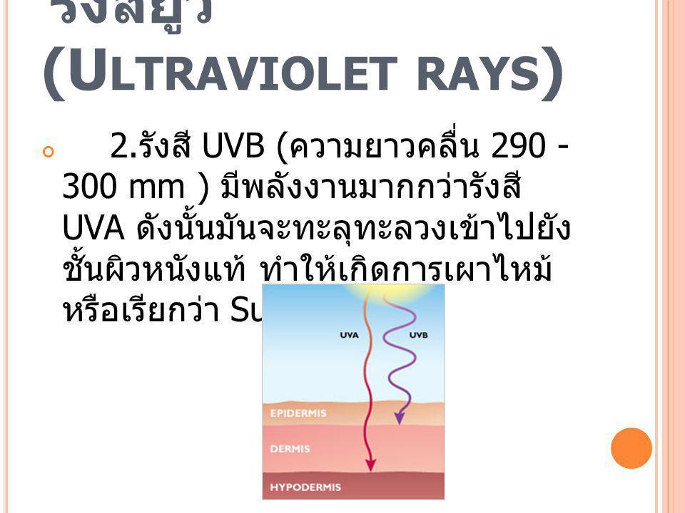 รังสียูวี (Ultraviolet rays)