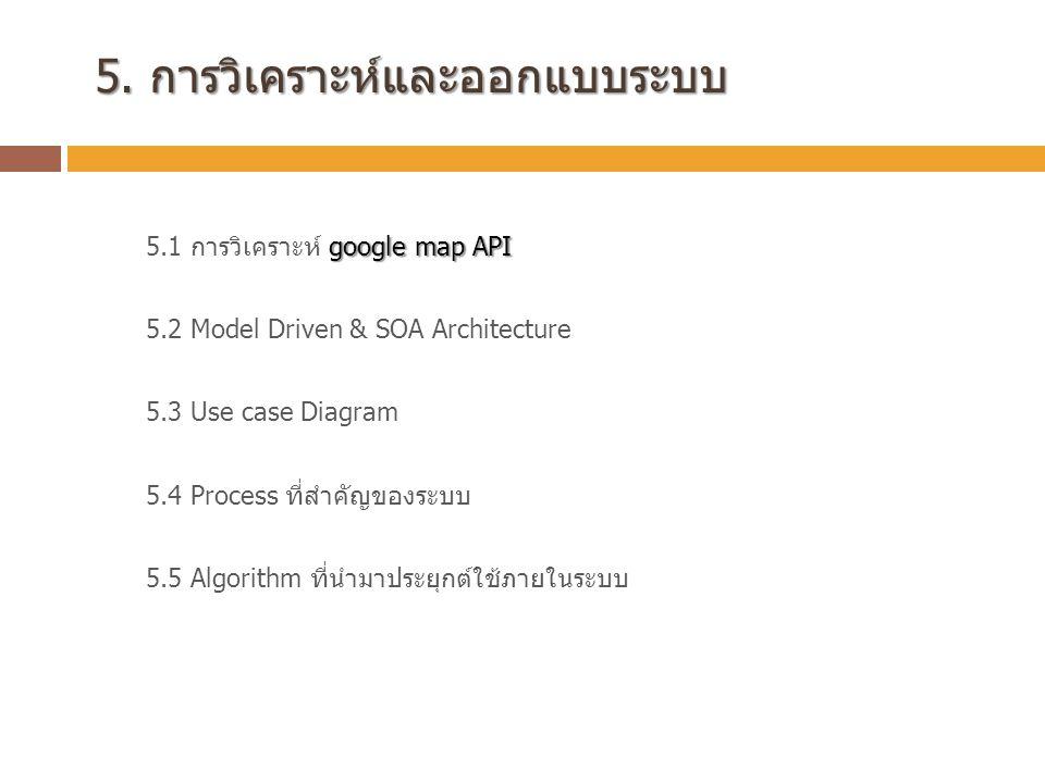 5. การวิเคราะห์และออกแบบระบบ