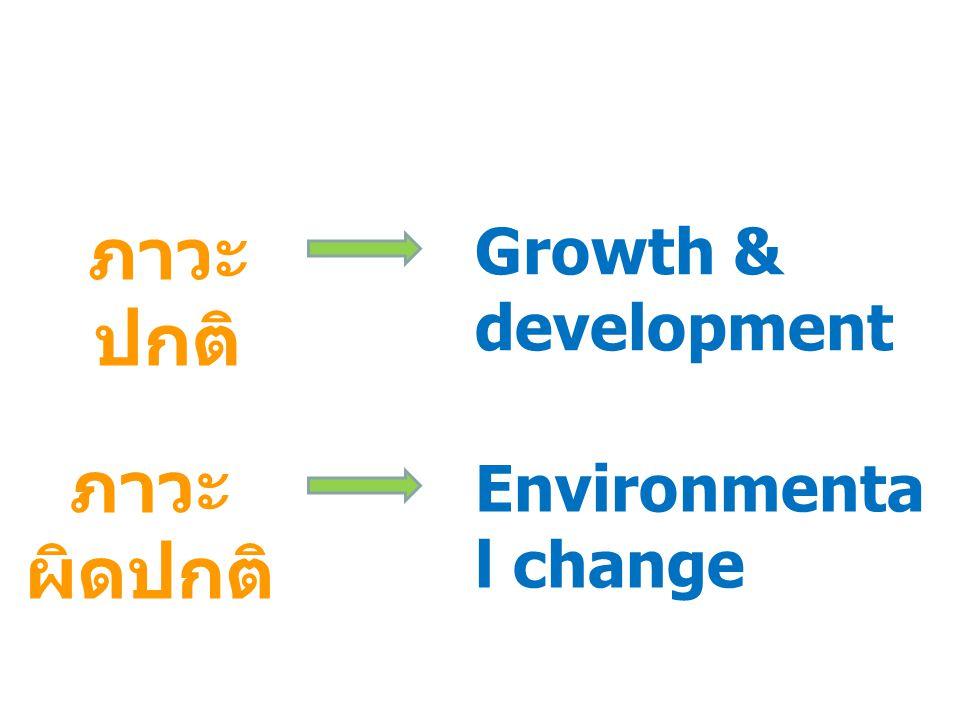 ภาวะปกติ Growth & development ภาวะผิดปกติ Environmental change