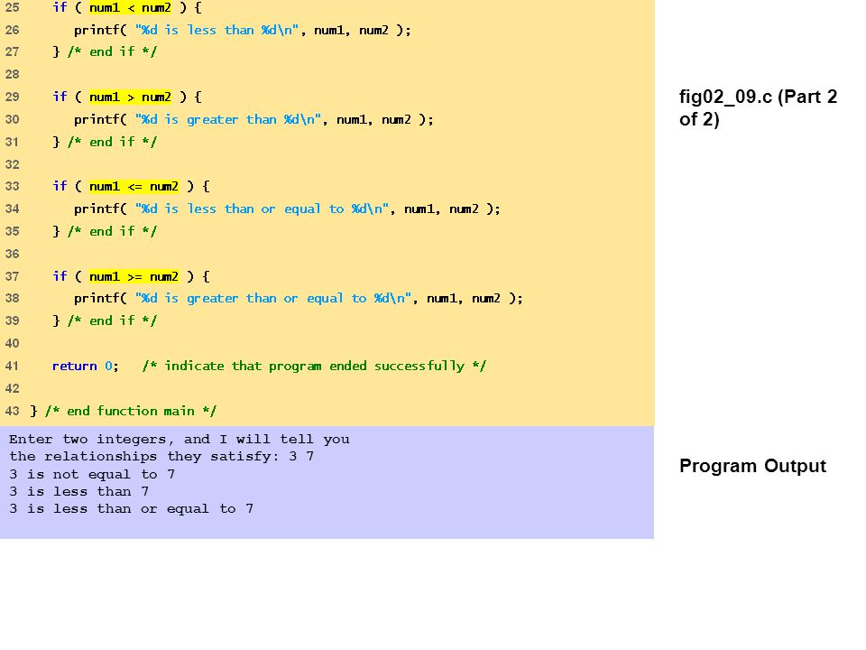 fig02_09.c (Part 2 of 2) Program Output