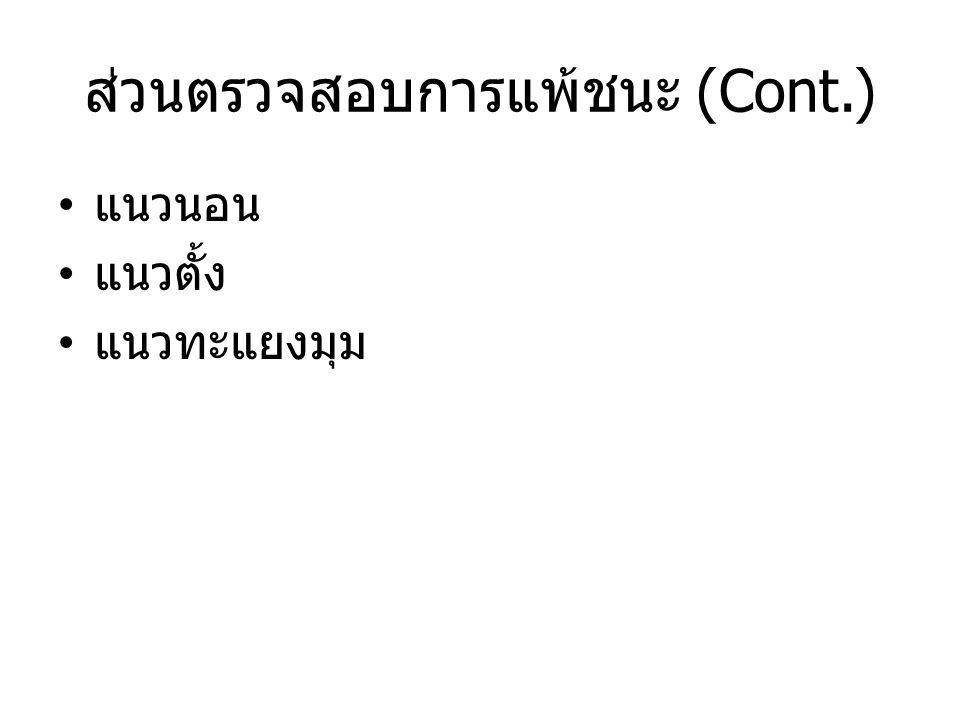 ส่วนตรวจสอบการแพ้ชนะ (Cont.)