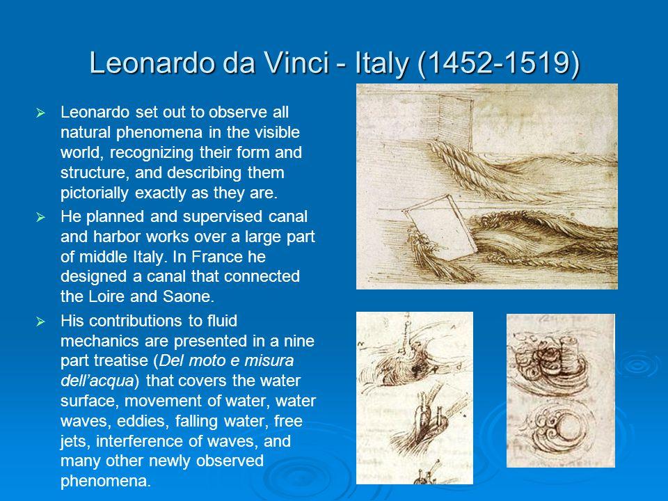 Leonardo da Vinci - Italy (1452-1519)