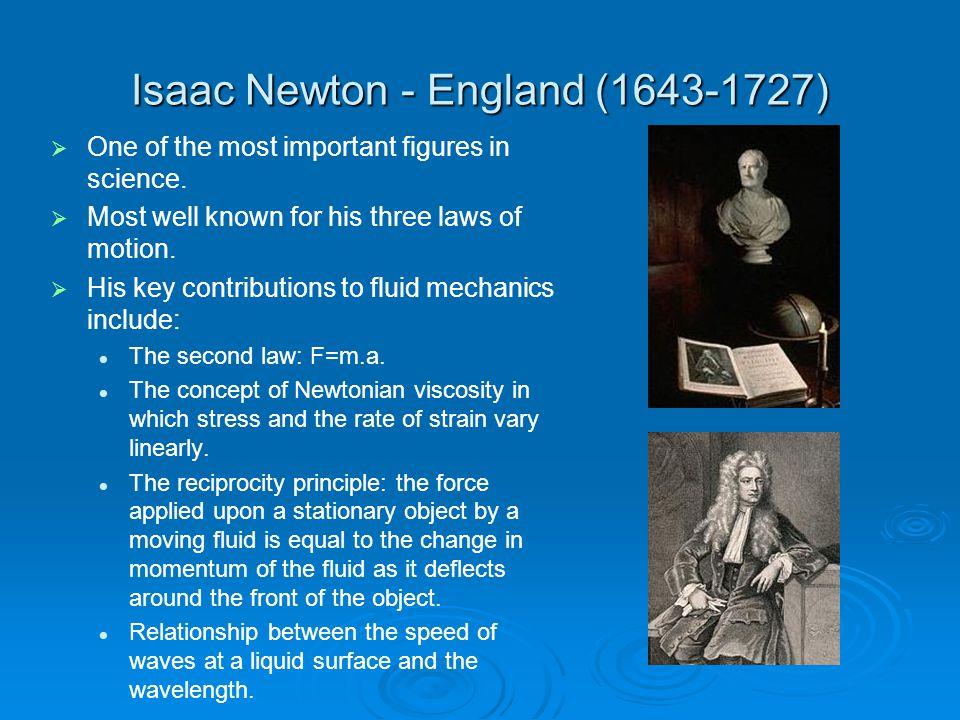 Isaac Newton - England (1643-1727)