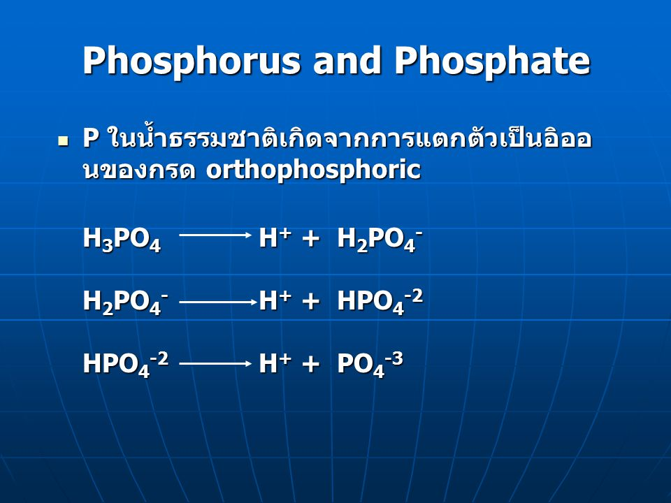 Phosphorus and Phosphate