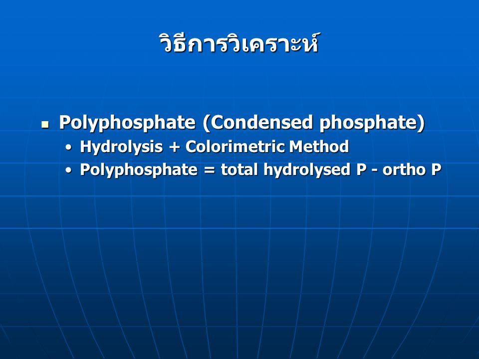 วิธีการวิเคราะห์ Polyphosphate (Condensed phosphate)