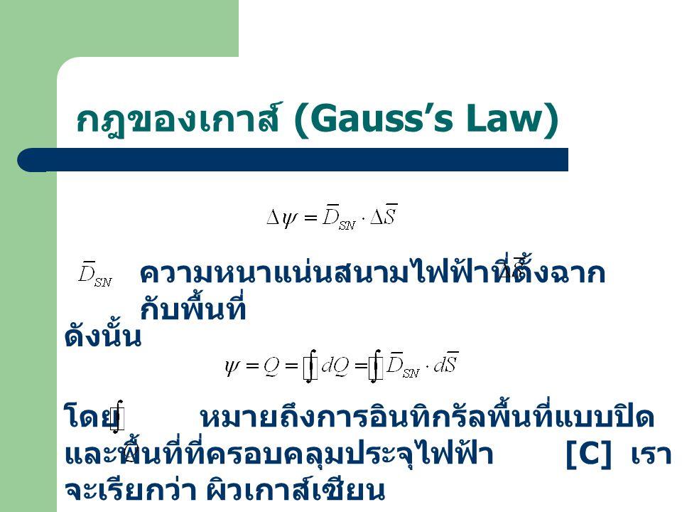 กฎของเกาส์ (Gauss's Law)