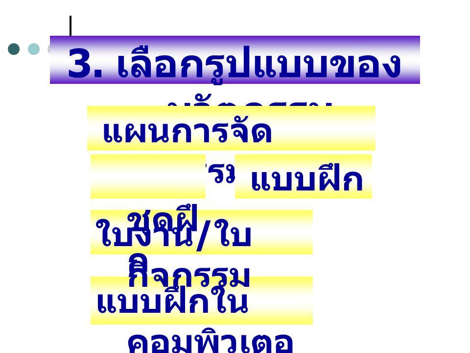 3. เลือกรูปแบบของนวัตกรรม