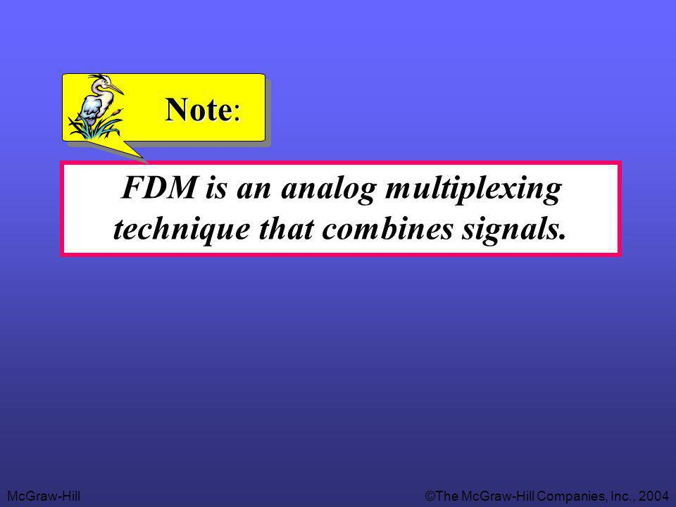 FDM is an analog multiplexing technique that combines signals.