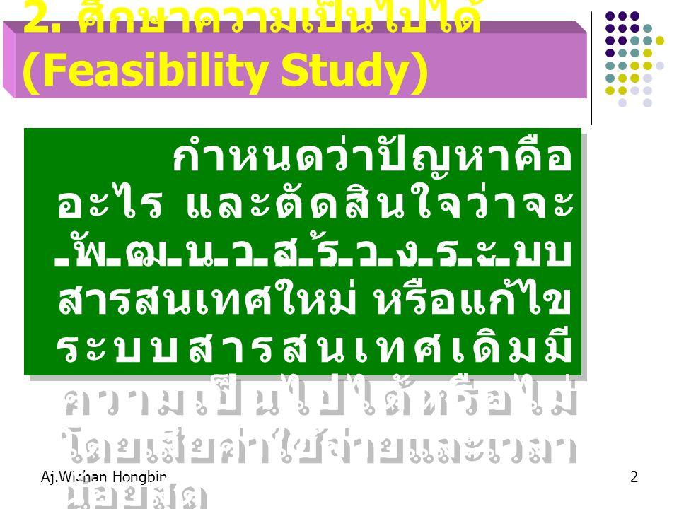 2. ศึกษาความเป็นไปได้ (Feasibility Study)