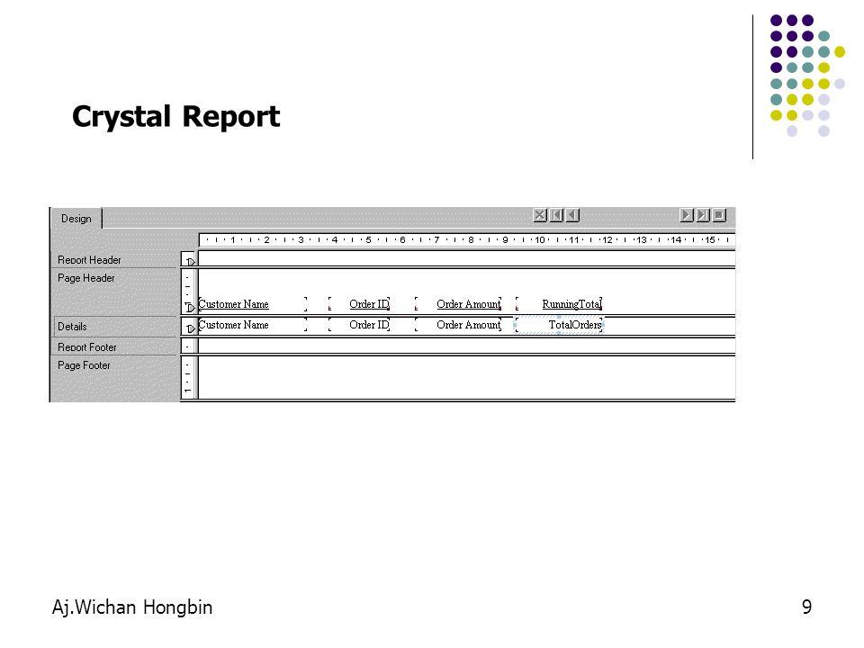 Crystal Report Aj.Wichan Hongbin