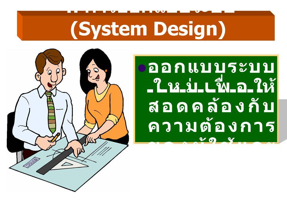 4. การออกแบบระบบ (System Design)