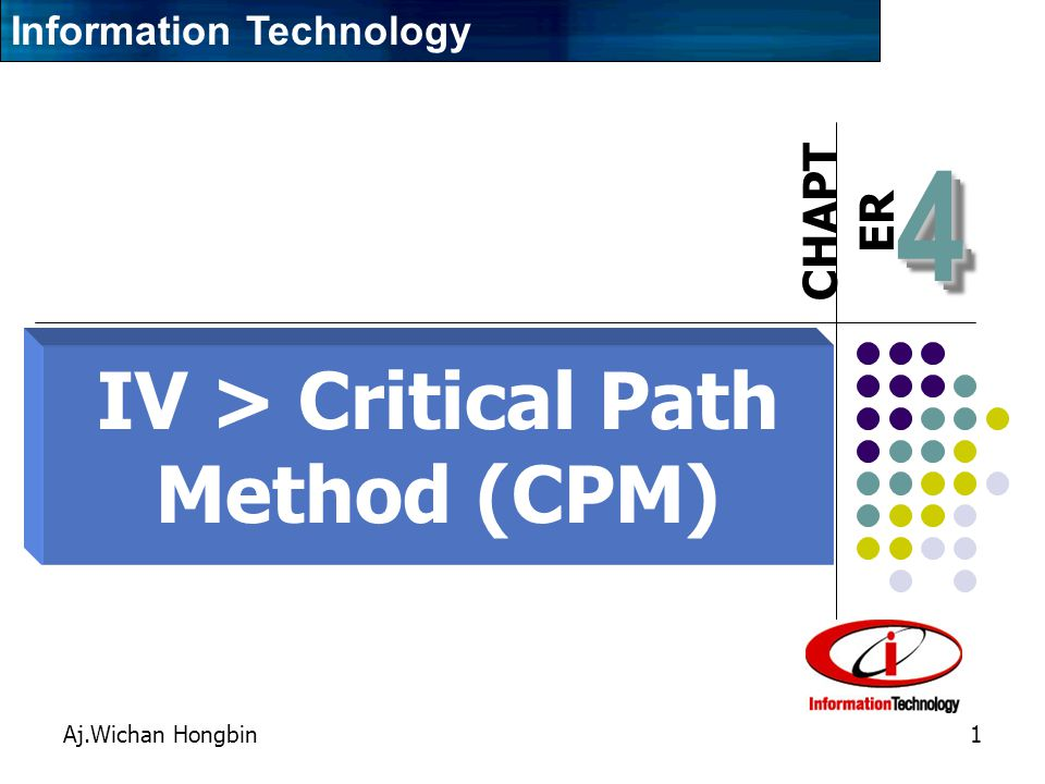 IV > Critical Path Method (CPM)