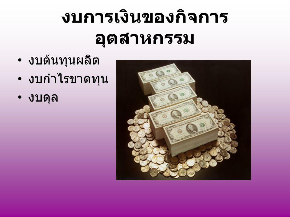 งบการเงินของกิจการอุตสาหกรรม