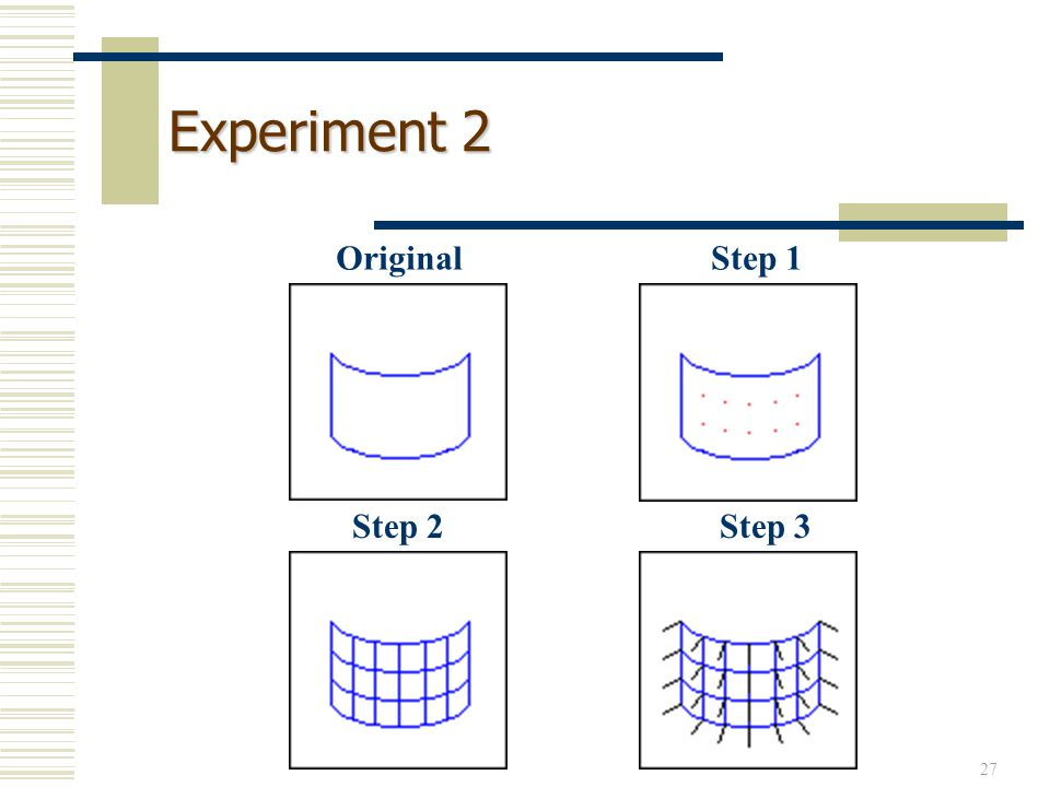 Experiment 2 Original Step 1 Step 2 Step 3