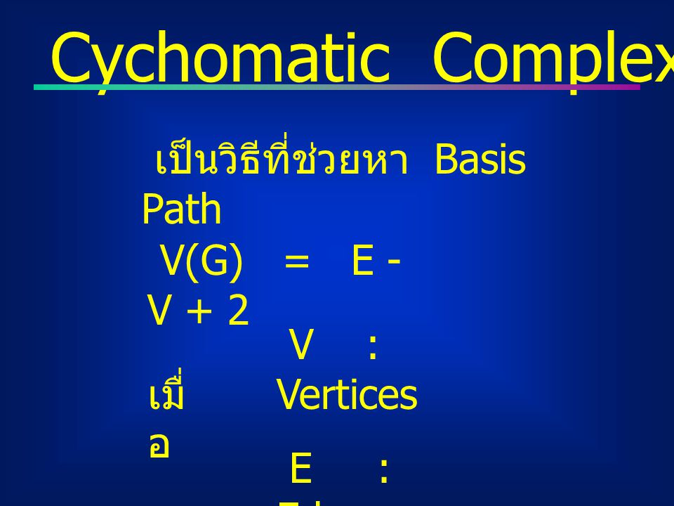 Cychomatic Complexity : V(G)