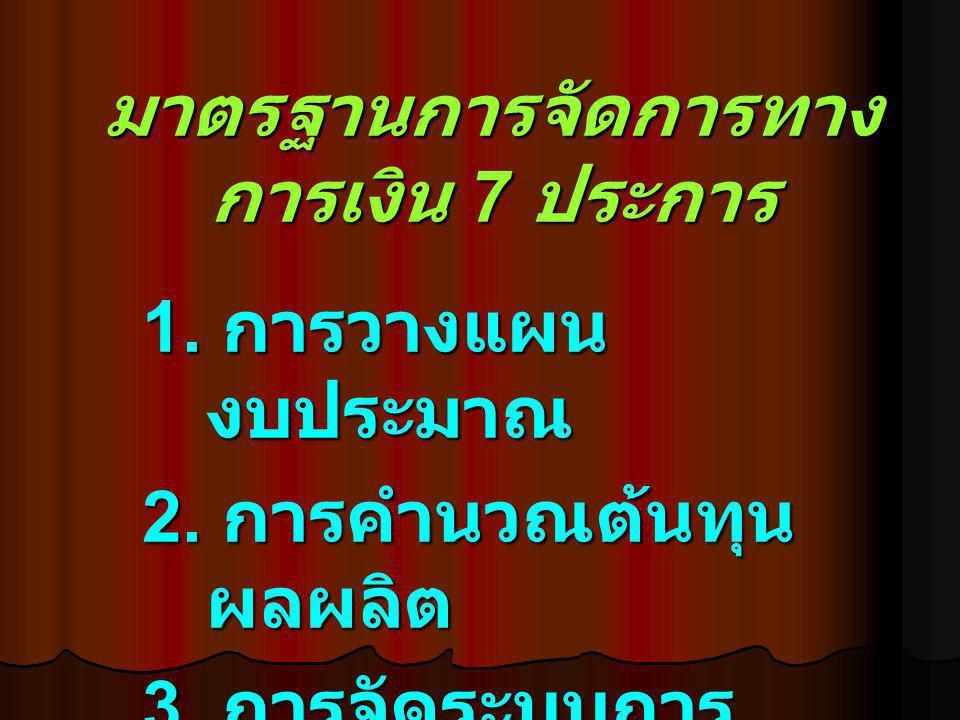 มาตรฐานการจัดการทางการเงิน 7 ประการ