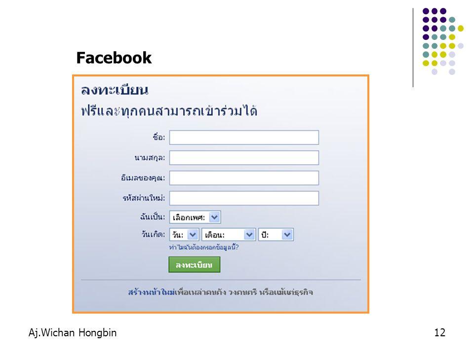 Facebook Aj.Wichan Hongbin