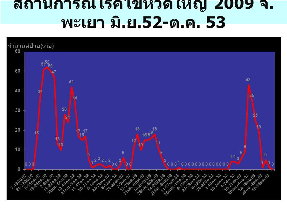 สถานการณ์โรคไข้หวัดใหญ่ 2009 จ.พะเยา มิ.ย.52-ต.ค. 53