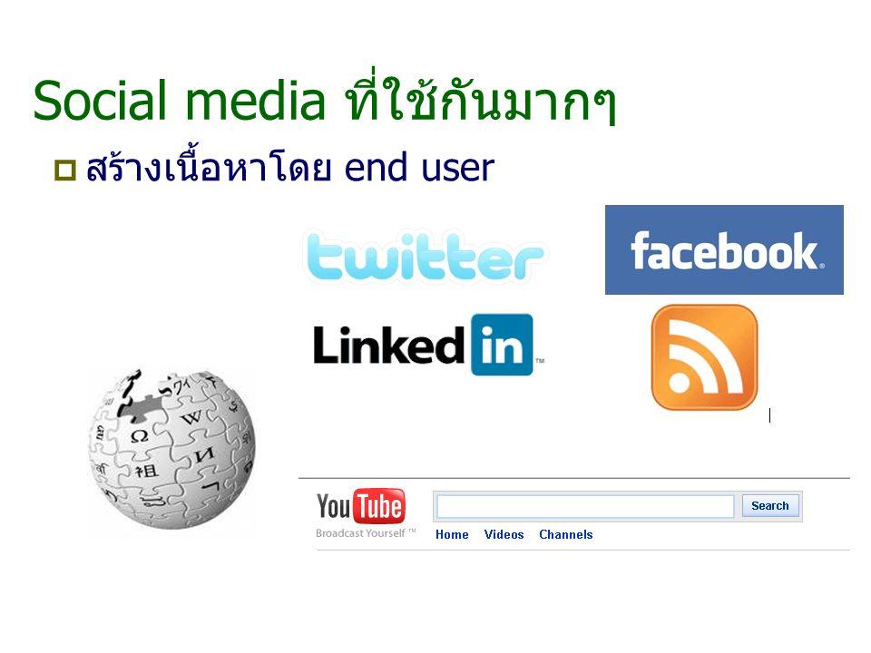 Social media ที่ใช้กันมากๆ