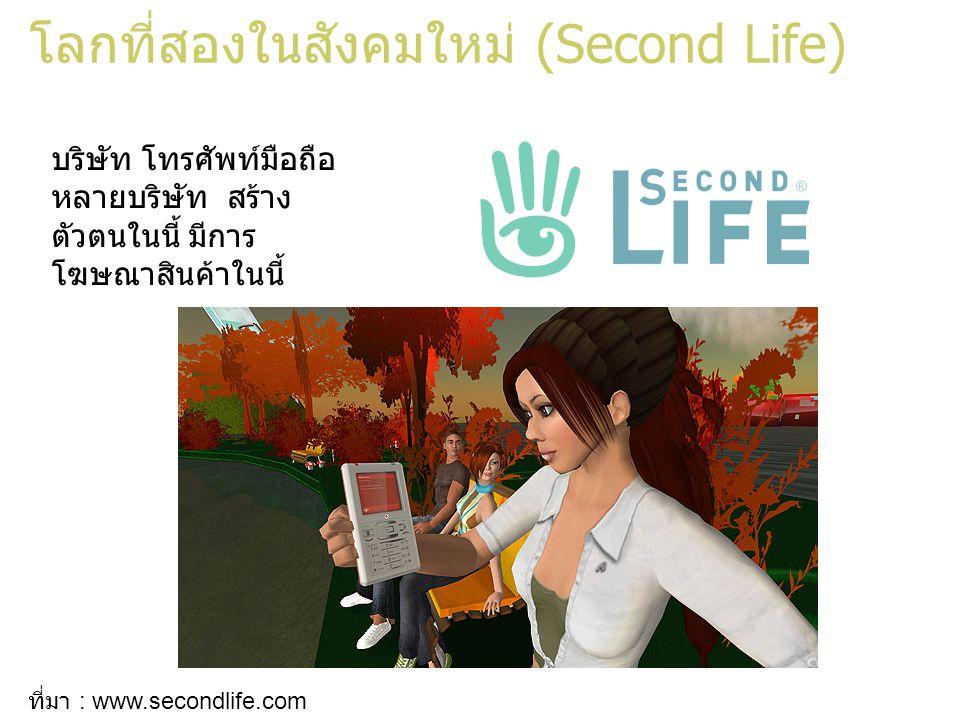โลกที่สองในสังคมใหม่ (Second Life)