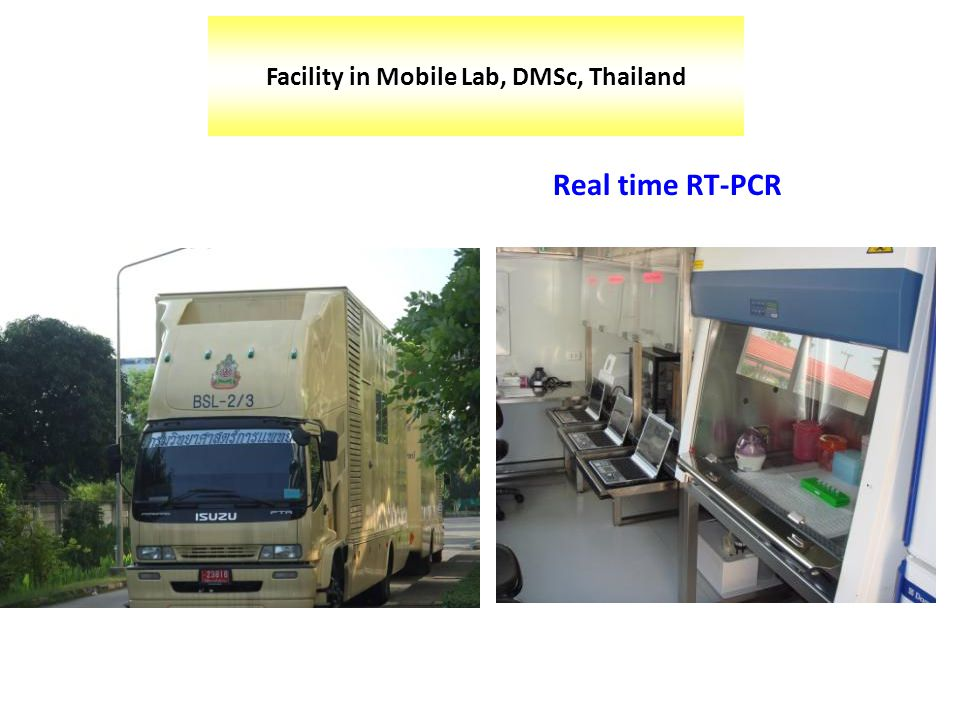 Facility in Mobile Lab, DMSc, Thailand