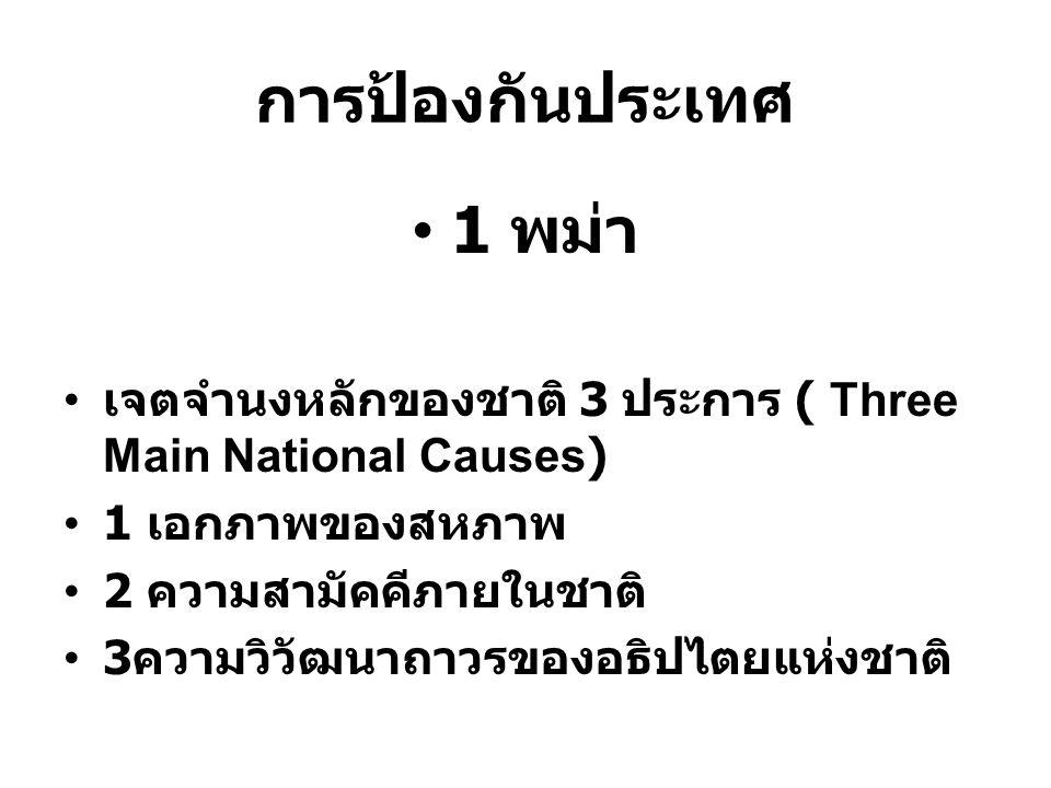 การป้องกันประเทศ 1 พม่า