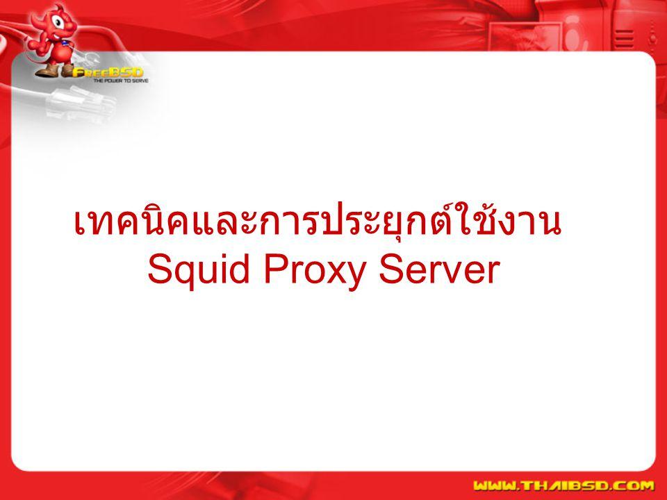 เทคนิคและการประยุกต์ใช้งาน Squid Proxy Server