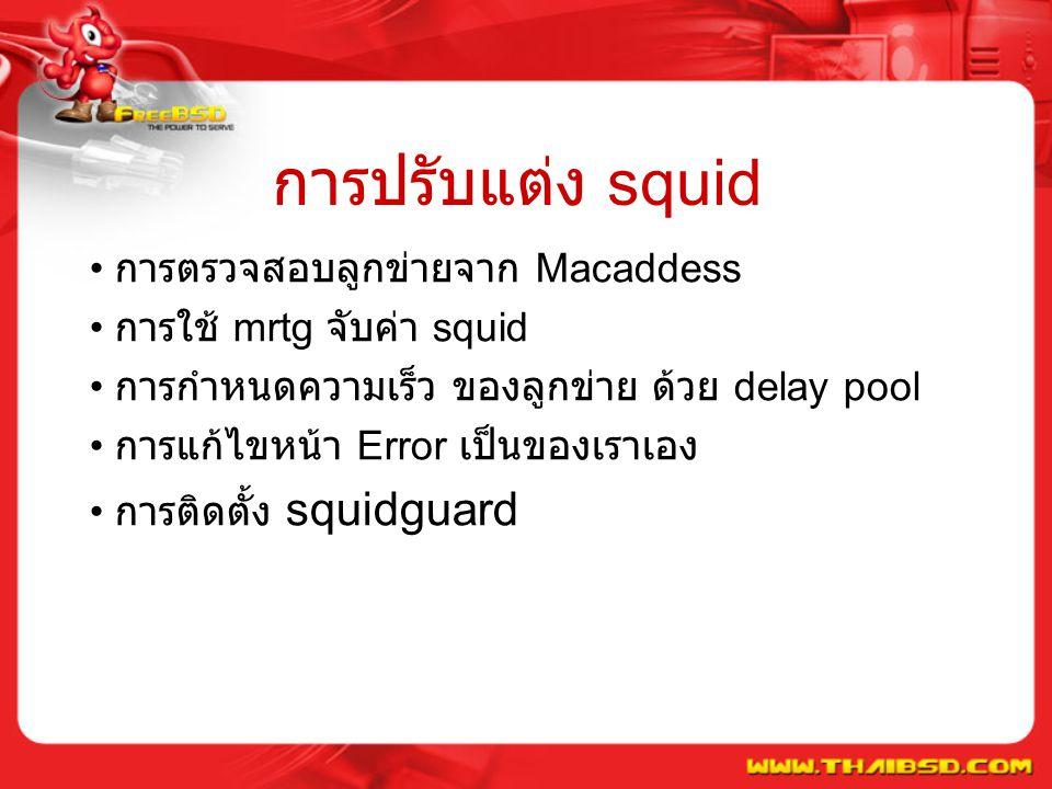 การปรับแต่ง squid การตรวจสอบลูกข่ายจาก Macaddess