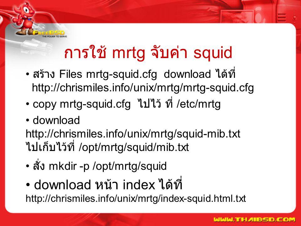 การใช้ mrtg จับค่า squid