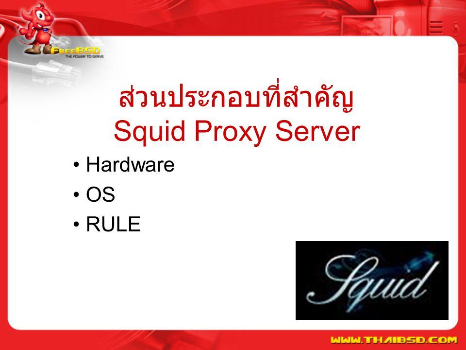 ส่วนประกอบที่สำคัญ Squid Proxy Server