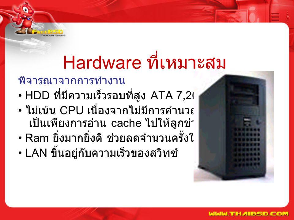 Hardware ที่เหมาะสม พิจารณาจากการทำงาน