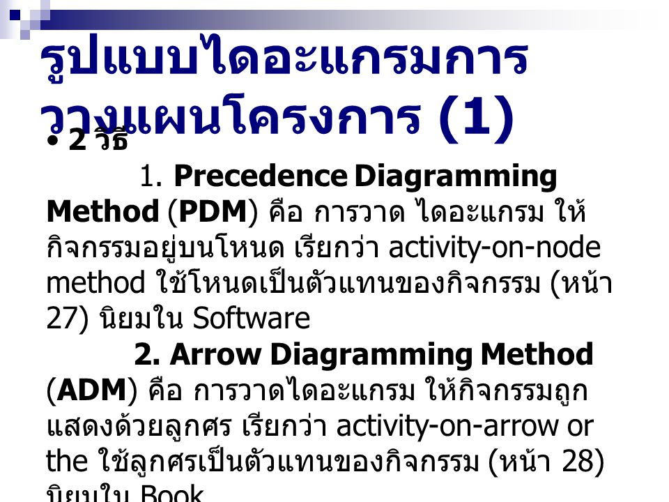 รูปแบบไดอะแกรมการวางแผนโครงการ (1)