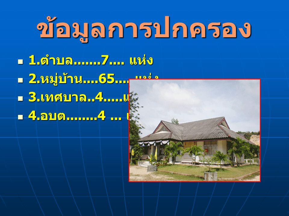 ข้อมูลการปกครอง 1.ตำบล.......7.... แห่ง 2.หมู่บ้าน....65.... แห่ง